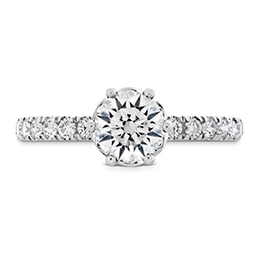 HOF Signature Bezel Basket Engagement Ring - Dia Band
